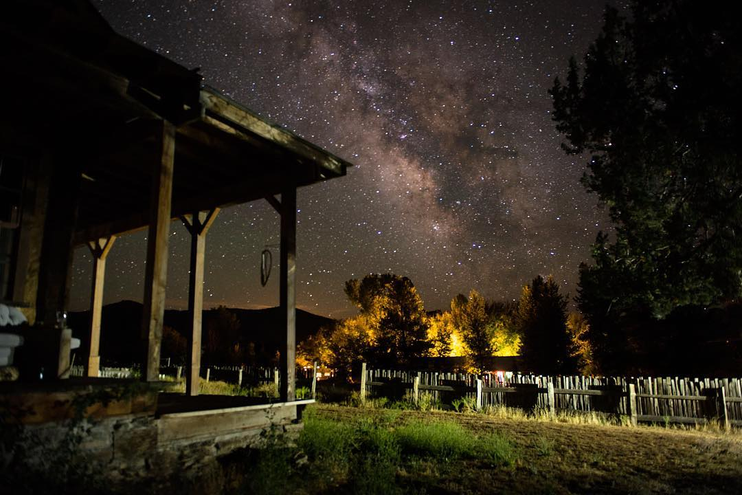 Under the Milky Way in Etna, CA. Photo by John Thomas Rose