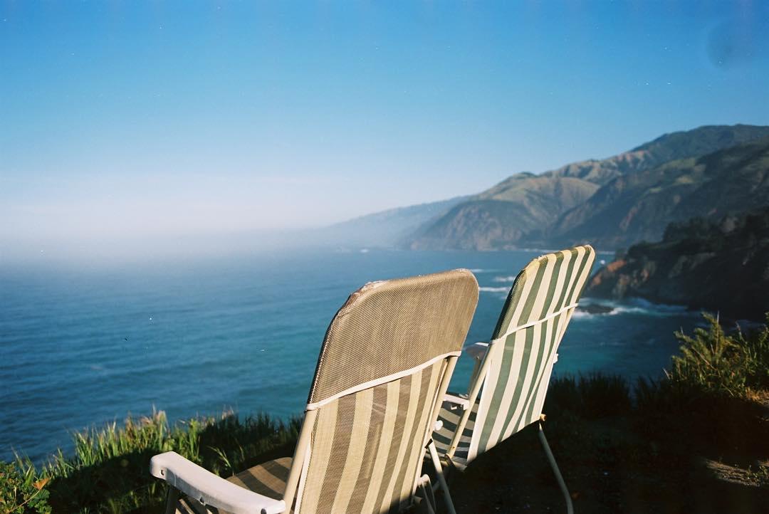 Don Brubaker - lawn chairs facing ocean