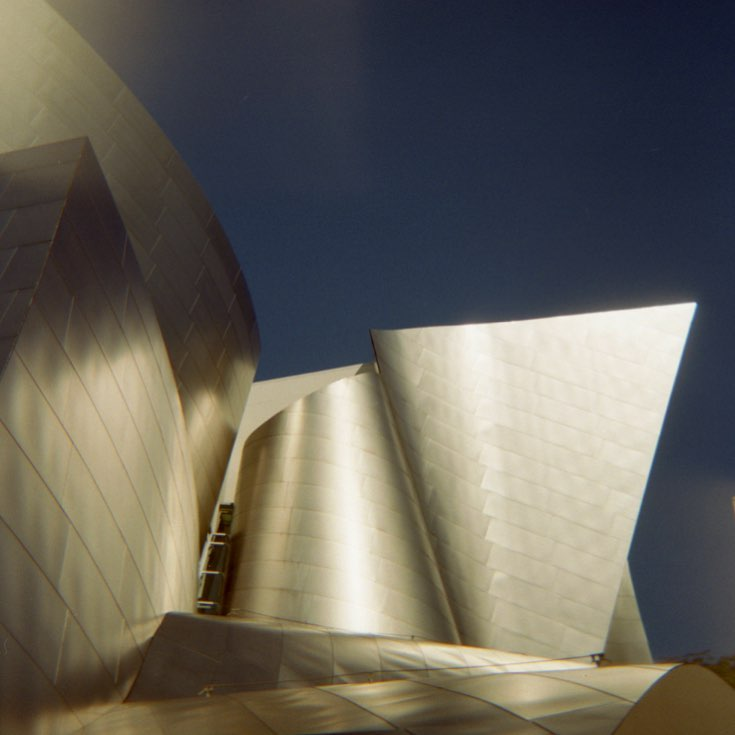 #disneyhall #dtla #holga #filmcamera -sorry can't remember what film this is. #abstractarchitecture #photographyourlove #filminmyblood #colorservices @kloimages