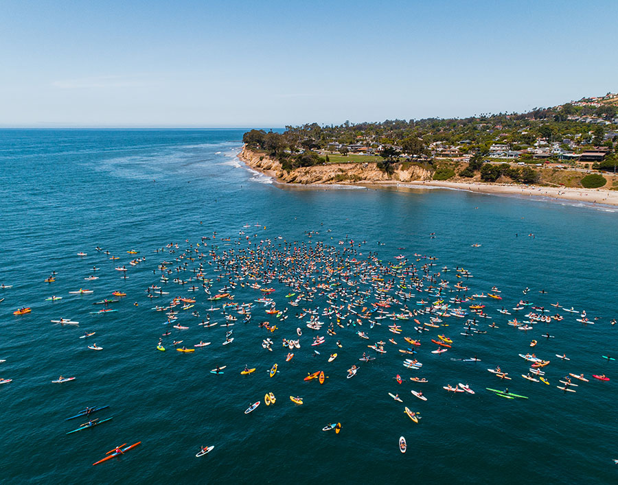 Mesa Beach Santa Barbara - Black Lives Matter Paddle Out - Blake Bronstad Photography