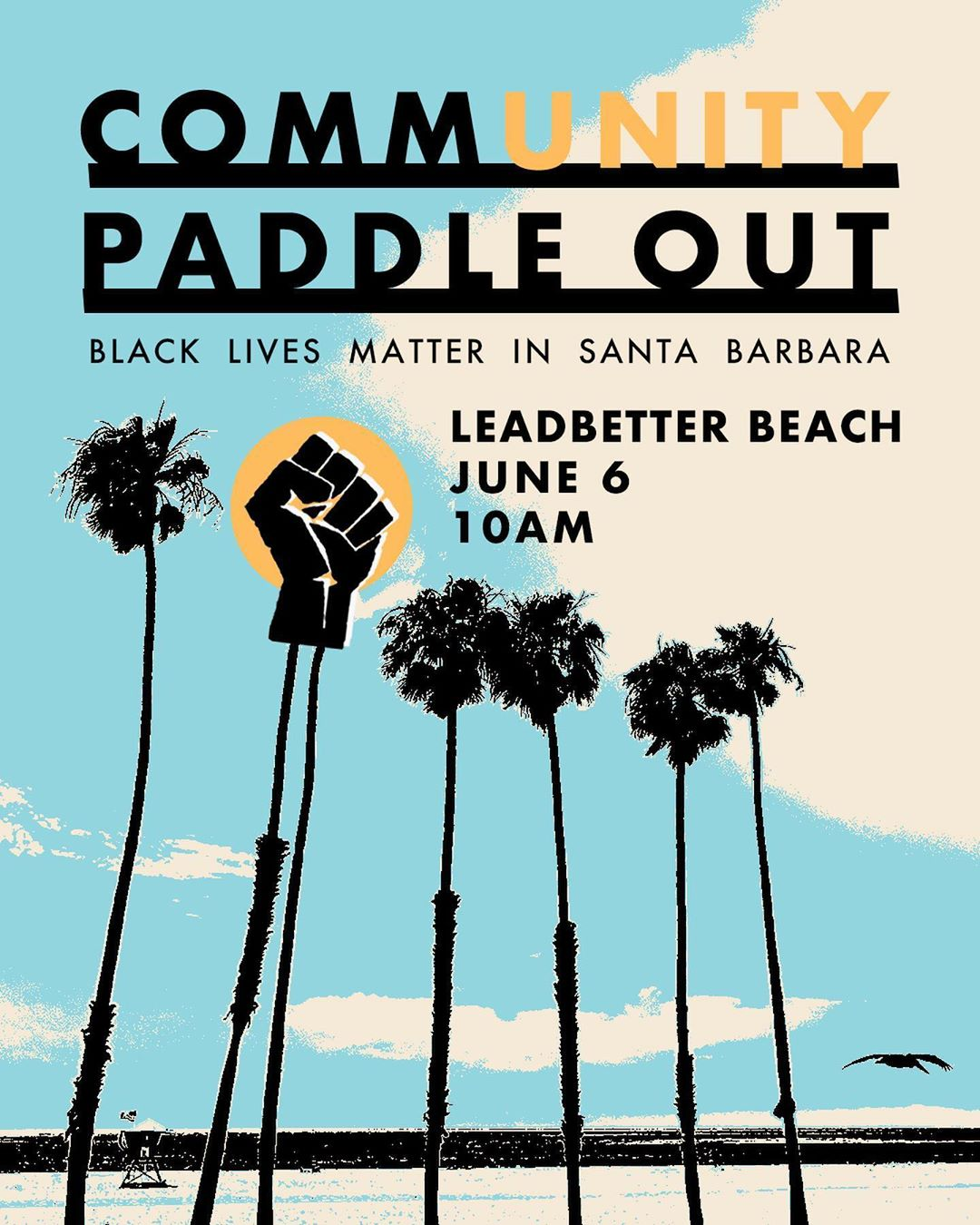 BLM Paddle Out SB Flyer