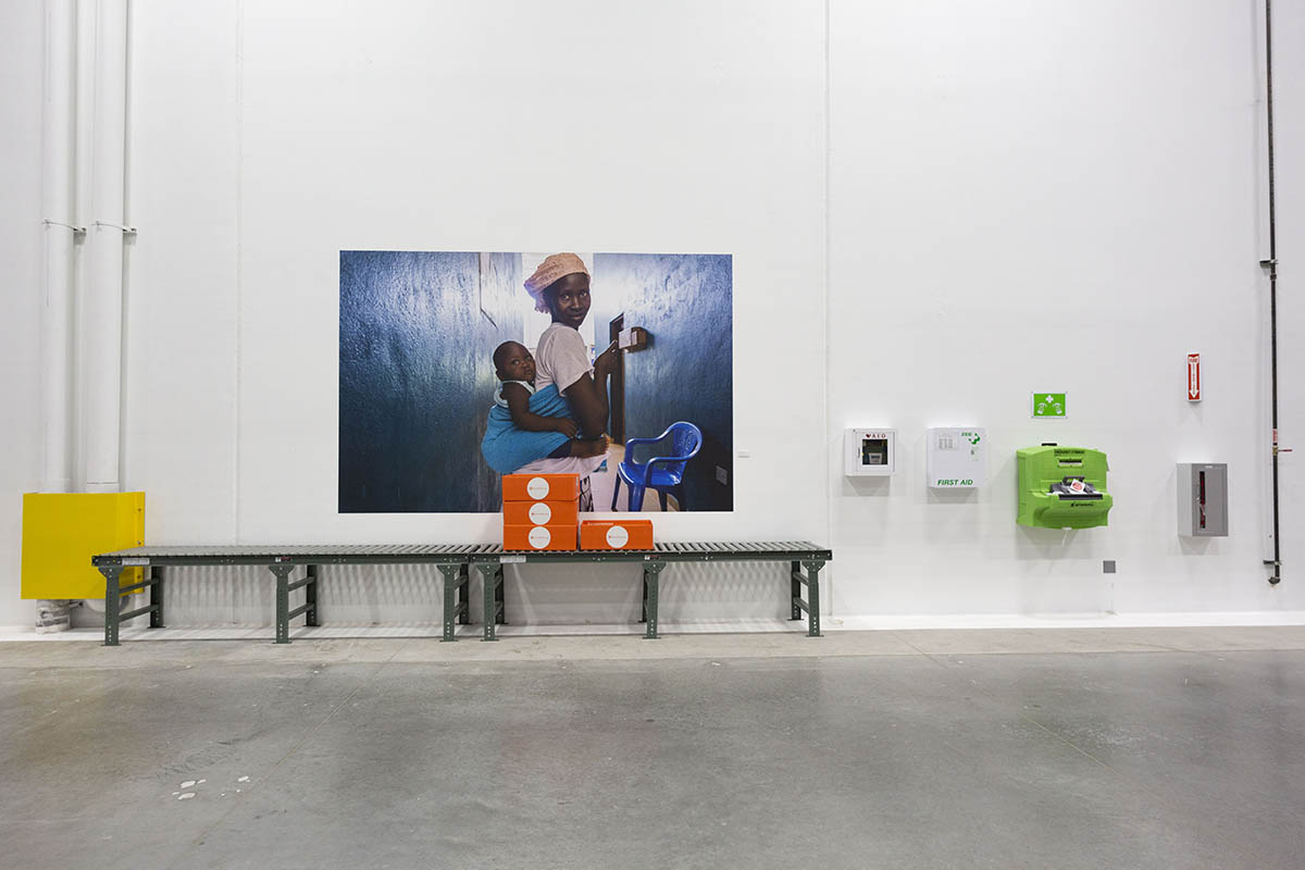 Photo Wall Clings Add Meaningful Decor to Direct Relief Headquarters